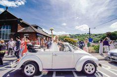 Bohemian Homespun Wedding VW Beetle Car http://www.nickmurrayphotography.co.uk/