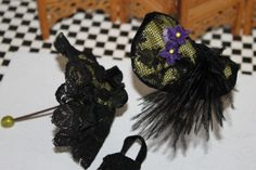 Parasol and hat for doll house doll. Comes with complete costume http://stores.ebay.com/happyharvesterminiatures