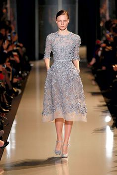 ELIE SAAB Summer 2013 - Assuming that this isn't see through, this would be a great modest bridesmaid dress. $$$