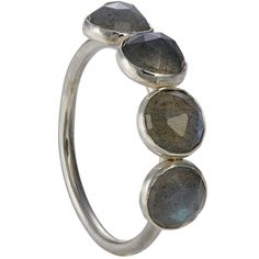 The rose cut labradorite stones in this sterling ring are so mysterious that their shine cannot be caught in a photo. Labradorite Ring, Mysterious, Cufflinks, Stones, Gray, Rose, Bracelets, Rings, Silver