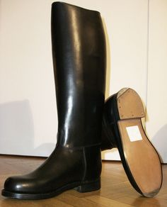 BOTTES WESTON POLICE FRENCH POLICE BOOTS XL CALF FR 44 US 10 UK 9,5