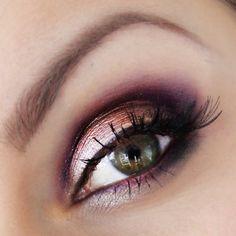 Purple smokey eye we ❤ this! moncheribridals.com #weddingmakeup #smokeyeye
