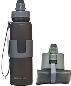 Nomader Collapsible Water Bottle w/ Strap - Durable Leak Proof Design - Reusable for Sports, Gym, Travel, Hiking, Camping - BPA Free 22 oz Nomader http://www.amazon.com/dp/B016AX6PEK/ref=cm_sw_r_pi_dp_fMxOwb1P3VHSA