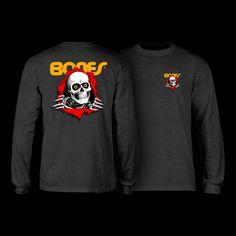 Powell Peralta Old School Winged Ripper Reissue Long Sleeve Shirt Black