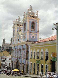Estacionamento perto do Pelourinho Igreja de Nossa Senhora do Rosário dos Pretos - Salvador, Bahia