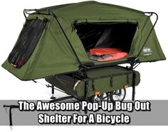 The Awesome Pop-Up Bug Out Shelter For A Bicycle