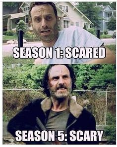 This pretty much sums up Rick Grimes' transformation from season one until now. Description from moviepilot.com. I searched for this on bing.com/images