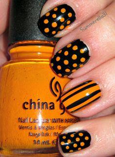 Cute Halloween nails #nailart #nailpolish