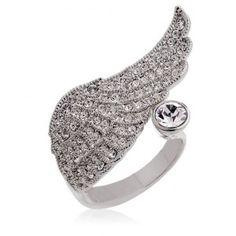 Romantic Angel Wing Rings
