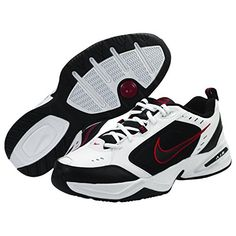 Nike Air Monarch IV 4E US Mens 6 Wide WhiteBlackVarsityRed >>> To view further for this item, visit the image link.