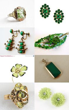 Many Shades of Green by Laura Wende on Etsy--Pinned with TreasuryPin.com
