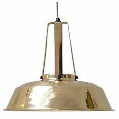 "Euro 199.- HK-living Industrial hanging lamp ""Workshop"" L made of metal, brass, Ø42x50cm"