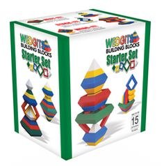 Wedgits Construction - Starter Set- This looks like such a cool toy. My kids will be able to use their imagination and make amazing creations. Toddler Toys, Kids Toys, Discount Toys, Puzzles For Toddlers, Stacking Toys, Wooden Puzzles, Classic Toys, Fine Motor Skills, Educational Toys