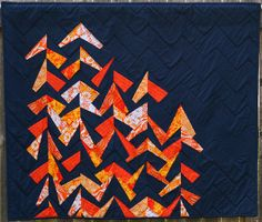 """Refracted Sunset"" by fiberosity, via Flickr #quilt"