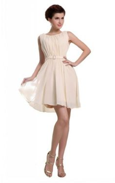 Joydress Women's Thin Sash A-line Jewel Short « Dress Adds Everyday