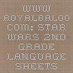 www.royalbaloo.com: star wars 2nd grade language sheets