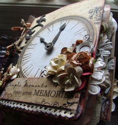 Vintage Timepiece Premade Scrapbook Album ~ Steampunk ♥ Scrapn4mygirlz
