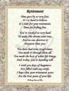 The 101 best retirement decorations images on pinterest retirement poem is for that person who has worked hard to reach retirement poem stopboris