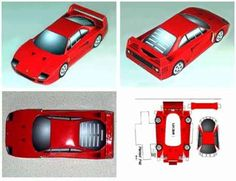 craft templates | ... , paper model toy for kids, free download-able / printable template
