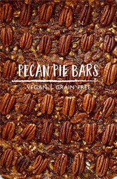 Heck yes! Vegan + gluten-free Pecan Pie Bars Recipe || #puremamas  Mmmmm!
