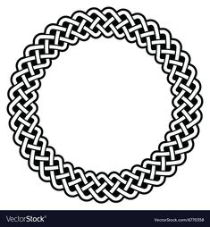 Celtic Round Frame, Border Pattern - Vector Stock Vector - Illustration of ornament, decorative: 63386883 Circle Borders, Borders And Frames, Border Pattern, Black Pattern, Celtic Border, Celtic Circle, Celtic Art, Irish Celtic, Leather Tooling Patterns