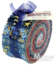Star Spangled Bandana Jelly Roll from Missouri Star Quilt Co