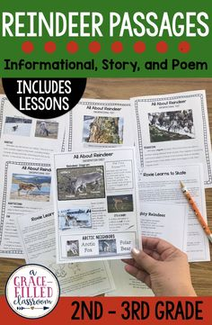 Read all about reindeer! The reindeer reading includes 3 text types: informational text, story and poem. The resources has lesson plans, standards-based comprehension pages, vocabulary cards and more.