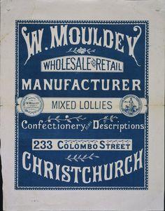 A prizewinning Christchurch confectioner, Vintage Packaging, Vintage Labels, Vintage Ephemera, Vintage Typography, Typography Letters, Hand Lettering, Retro Graphic Design, Graphic Design Trends, Old Ads