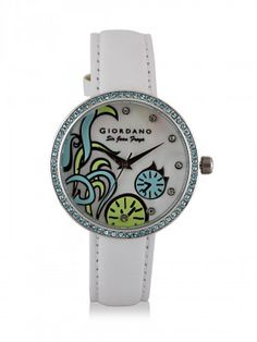 GIORDANO Analogue Watch With Sparkling Stones by koovs