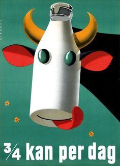 krowa z mlekiem
