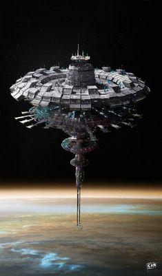 Droides Star Wars, Star Wars Ships, Spaceship Art, Spaceship Design, Arte Sci Fi, Sci Fi Art, Cuadros Star Wars, Star Wars Spaceships, Starship Concept