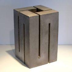 Original Abstract Sculpture by Benoist Van Borren Cement Art, Concrete Art, Concrete Projects, Concrete Design, Concrete Sculpture, Modern Sculpture, Abstract Sculpture, Sculpture Art, Metal Art