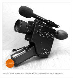 Dieter Rams designed Braun Nizo 8mm camera for sale on Etsy:  www.etsy.com/listing/126030798/braun-nizo-4056-by-dieter-rams-oberheim