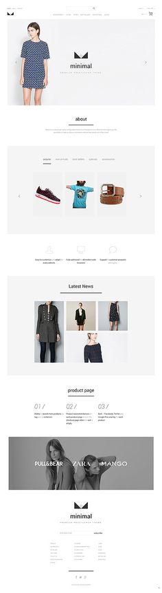 Want to Set a Minimal Trend on Your eCommerce Site? Use This Urban Clothing PrestaShop Theme with Ample Clean Space, Tabs, carousels, and Multiple Pop-ups. Minimal Web Design, Web Design Software, Urban Outfits, Online Shopping Stores, Website Template, Simple Style, Design Bundles, Ecommerce, Design Elements