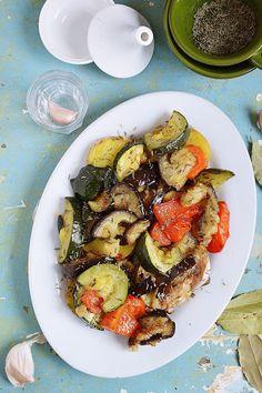 Moja smaczna kuchnia: Pieczone warzywa śródziemnomorskie