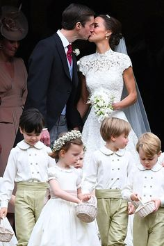 Pippa Middleton officially received the title of Mrs. Matthews of Glen Affric the younger when she married financier James Matthews in a beautiful ceremony in King Queen Princess, Baby Princess, Prince And Princess, Kate Middleton Sister, Pippa Middleton Wedding, Duke And Duchess, Duchess Of Cambridge, Flower Girl Dresses, Bride Dresses