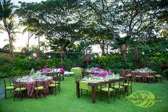 Beautiful Dinner Set Up Garden Lawn Four Seasons Resort Hualalai