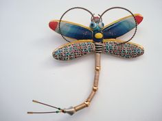 CYNTHIA CHUANG/ERH-PING TSAI DRAGONFLY BROOCH (Cynthia Chuang and her husband, Erh-Ping Tsai, have graduate degrees in sculpture from the Parsons School of Design and they make the most amazingly bizarre pieces)