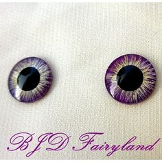 Blythe eye chips eyes hand painting yellow purple 1# 1 pair by BJD fairyland