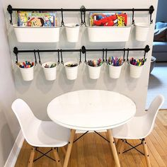 I am OBSESSED with this arts and crafts set up! playroom ideas for boys basements Playroom Organization, Organized Playroom, Toy Rooms, Kid Spaces, Girl Room, Home Projects, Diy Home Decor, Sweet Home, Children Playroom