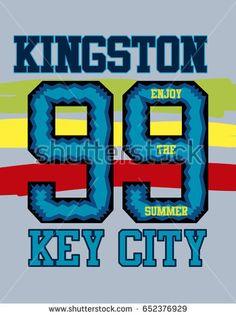 kingston key city,t-shirt print poster vector illustration