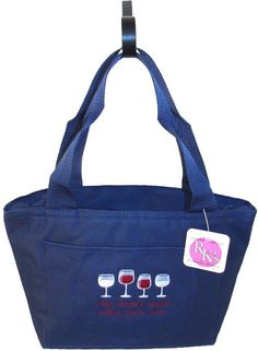 Age Doesn't Matter Unless You're Wine Cooler Bag Lunch Pail Vino Glass Monogram #LibertyBags