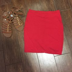 Red skirt Very thick skirt. Cotton. ❤️ Skirts Mini