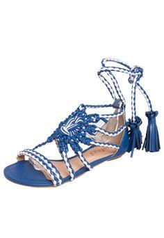 a9b72a9d90 Rasteira Colcci Gladiadora Tresse Azul. Sandálias Femininas ...