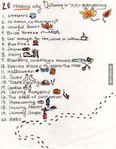 Reasons why autumn is awesome