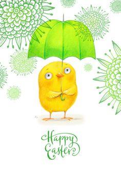 Ela Jarzabek - Happy Easter Umbrella Bird 2