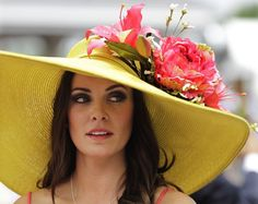 Wouldn't wear it for normal life, but Tamara Sorrell of Austin, TX does the Kentucky Derby right. This is mad pretty.