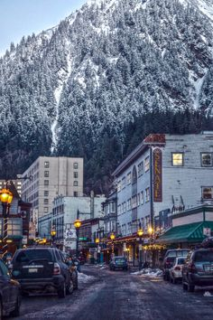 Juneau- The view from Downtown. Mountains on one side, ocean on the other. Doesn't get much better!