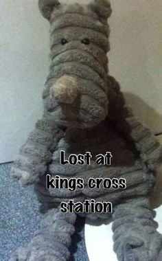 """LOST on KING CROSS TRAIN, UK Hoping people will share this post:) Zach who has DIPG, has lost his beloved teddy """"NOSE"""" on the train on the way to kings cross station on Friday. I've been asked to share the picture in the hope that we find him. Thank Chloe's Chemoo Cows x Contact: https://www.facebook.com/chloeschemoocows"""
