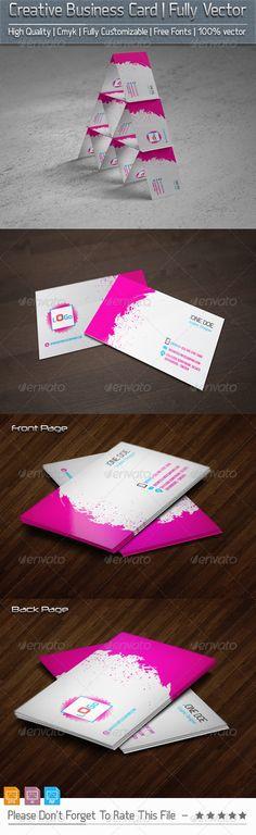 Creative business card illustrator cs5 fonts and creative creative business cardv2 reheart Images
